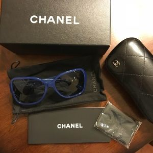 NWT CHANEL Blue Sunglasses